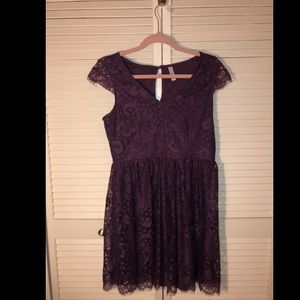 Xhilaration Purple Lace Party Dress- New!